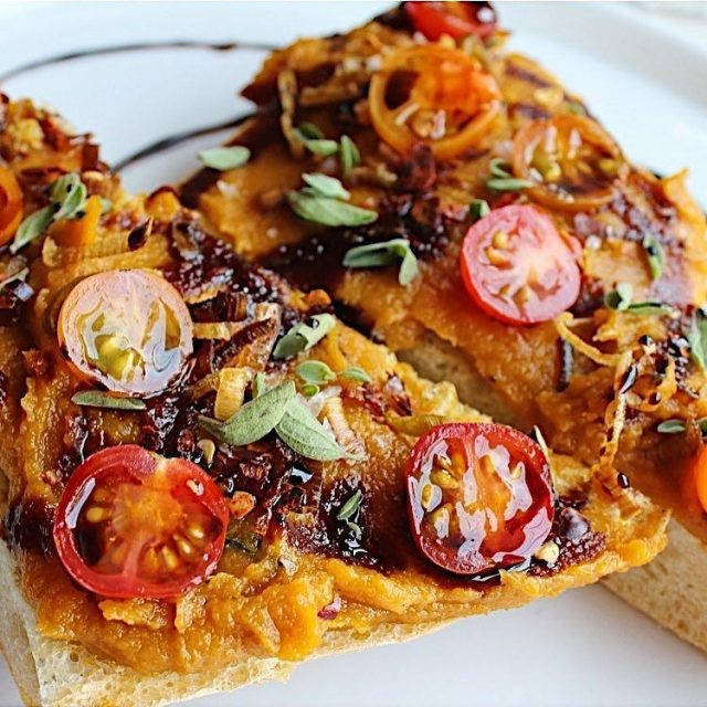 regram from lazygirlliving  Butternut Squash Toast? Ok! vegetablela vegetablelahellip